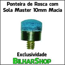 Ponteira De Rosca Com Sola Master 10mm Taco Sinuca Bilhar