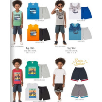 Lote Roupa Infantil Menino Verão Bermuda Regata Camiseta