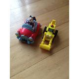 Lote Juguetes Mickey Auto Y Bob Constructor Grua