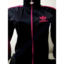 Agasalho Adidas Conjunto Infantil Feminino Preto Rosa