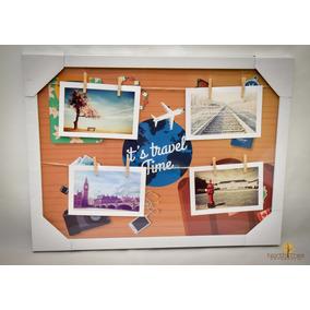 Mural Painel Quadro Porta Retrato 4 Fotos 10x15 Travel