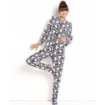 Hello Kitty Mameluco Cebra Animal Print Logo Adulto Talla Xl