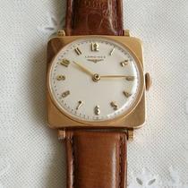 Relógio De Pulso A Corda Unisex Longines Em Ouro 18 Kl -raro