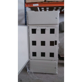 Gabinete Chapa Para 9 Medidores Monofasicos 3 Puertas