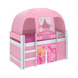 Cama Infantil Solteiro Barbie Play Com Cabana