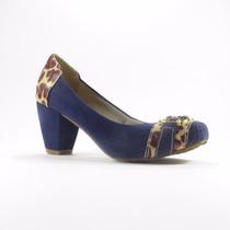 Sandália Azul Nobuk Details Onça