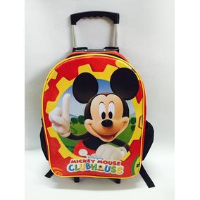 Mochila Mickey Mouse Rodinhas G Infantil