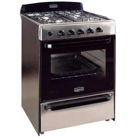 Cocina Multigas 56cm Eficiencia A Horno Eco Acero Inox