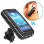 Suporte Universal Celular Gps Moto Bike + Fone Bluetooth 4.1