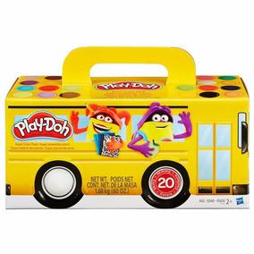 Conjunto De Massinhas Onibus Play-doh C/ 20 Hasbro A7924