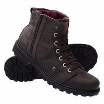 Bota Coturno Sapato Casual Trilha Calçados Super Conforto