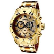 Relógio Invicta Pro Diver Scuba 0074 Ouro Gold 18k Top