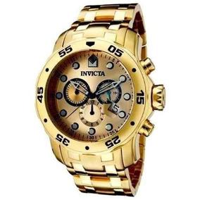 Relógio Invicta Pro Diver Scuba 0074 Ouro Gold 18k Caixa