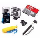 Go Pro Hero5 Black Camera Gopro 5 + Estanque +64gb + 2bastão