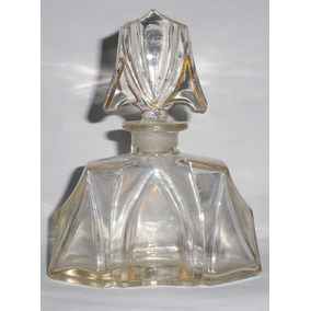 Perfumero Muy Antiguo De Vidrio Facetado