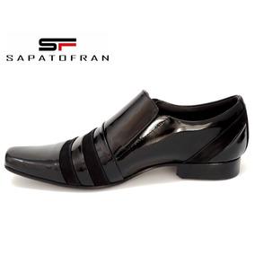 Sapato Social Masculino Em Couro Verniz Legitimo.
