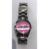 Reloj Blaque Malla De Acero Fondo Rosa