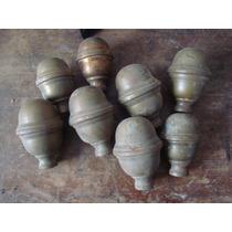 Antiguos Terminales De Bronce Para Cama Tapones Varios