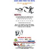 Auriculares C/ Ppt Nextel I290 I465 I570 I760 I876 Etc.