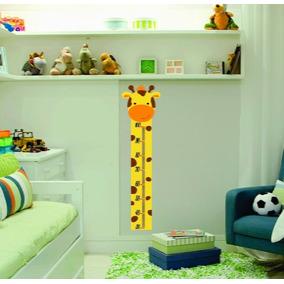Adesivo Infantil Bebe Regua De Crescimento Girafinha Zoo