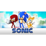Painel Decorativo Festa Aniversário Sonic [2x1m] (mod5)