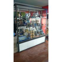 Exhibidor / Aparador De Aluminio Y Vidrio, Puerta Corrediza