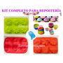 Kit De Reposteria Casera Con 10 Moldes De Silicona Flexible