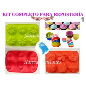 Set De Reposteria Casera Con 10 Moldes De Silicona Flexible