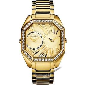 Relógio Marc Ecko Masculino Ouro 18k Cristais Dourado Origin