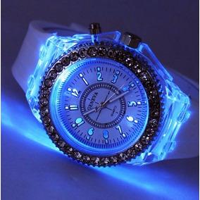 Reloj Diamond Led Lujo Digital Binario Moderno Luz Diamante