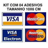 Kit Adesivos Cartão De Credito Visa Mastercard + Elo Brinde