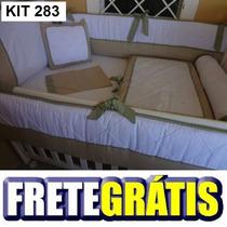 Kit Berço Personalizados 10 Pçs Provençal Luxo Branco/marrom