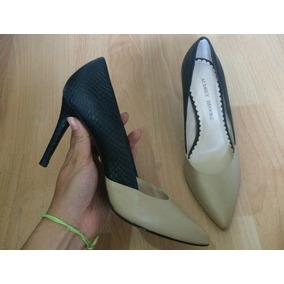 Bellisimos Zapatos Tacones Audrey Brooke Bicolor Piel Fina!!
