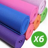 X6 Colchonetas Mats Yoga Pilates Gim 173cm X61cm X5 Mm Bolso