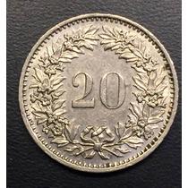 Swi222 Moneda Suiza 20 Rappen 1974 Xf+ Ayff