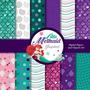 Kit Imprimible Pack Fondos Ariel La Sirenita 40 Clipart
