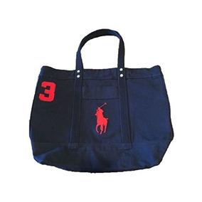 Bolso Polo Ralph Lauren Cotton Canvas Big Pony Zip Tote !