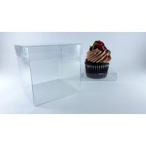 Paquete De 10 Cajas De Acetato 8x8x8 Cm Para Cupcake