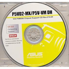 Cd Drivers Original Placa Mae Asus P5vd2-mx P5v-vm Frete Gra