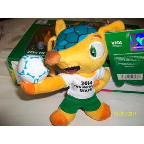 Fuleco-copa Futbol Fifa Brasil 2014-muñeco Clip-13cms