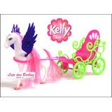 Carruagem Para Boneca Kelly ( Irmã Bebê Filha Da Barbie )