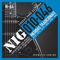 Encordoamento Cordas Nig N64 010-046 Níquel Para Guitarra