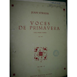 Partitura Voces De Primavera Strauss Vals Para Piano Ricordi