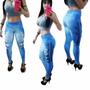 Calça Legging Estampa Jeans Fake Promoção Limitada Aproveite