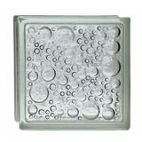 Ladrillo De Vidrio Burbuja Transparente 19x19x8cm