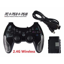 Joystick Controle Game Sem Fio Pc Ps2 Ps3 Wireless Joypad