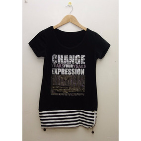 Camisas Blusas Exotic Con Letras Brillantes Para Estrenar