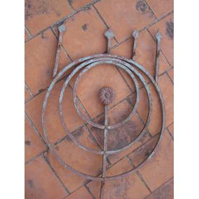 Antigua Reja De Hierro Muy Decorativa