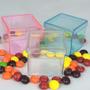 30caixinhas De Acrílico5x5 Cores Azul, Rosa, Transparente
