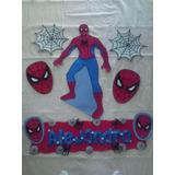 Spiderman Hombre Araña Figura En Foami 80cm Cumpleaños